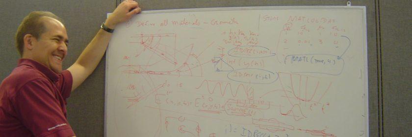 re diaz teaching at a whiteboard