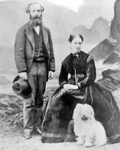 James Clerk Maxwell and his wife Katherine Maxwell, 1869