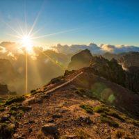 Dawn over mountain