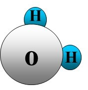 cartoon of water molecule