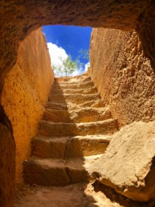 photo of stair steps carved in stone