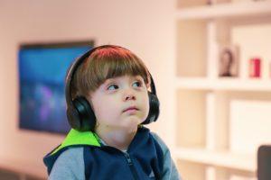 photo of boy with earphones