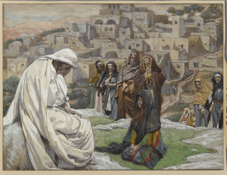 painting by James Tissot: Jesus wept
