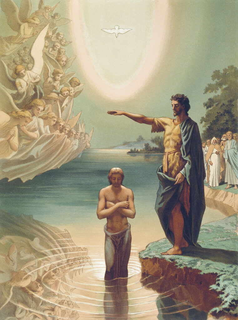 Baptism of Christ – painting by Grigory Gaagarin