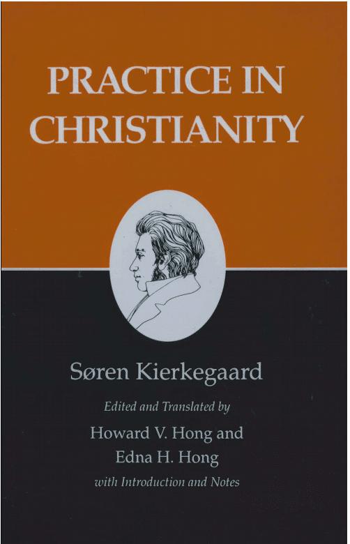 photo of cover of Kierkegaard's book Practice in Christianity
