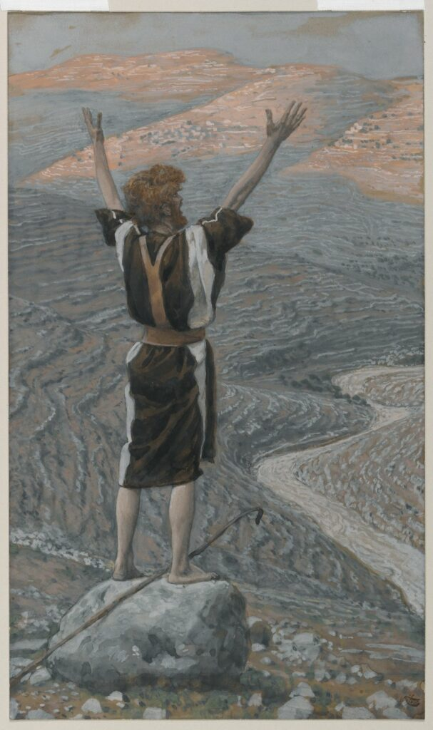 tissot's painting of John the Baptist in the wilderness
