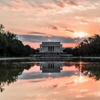 photograph of the Lincoln Memorial