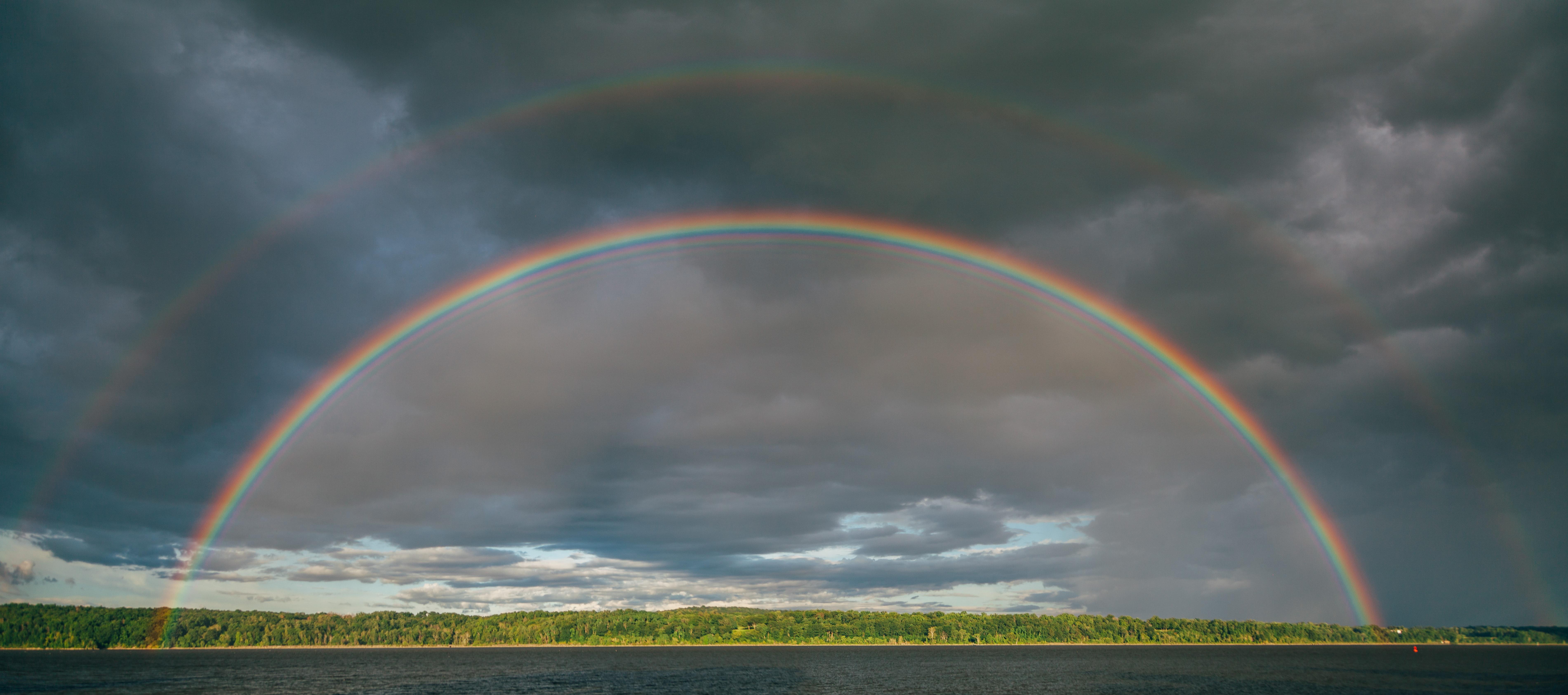 Photo of rainbow in the sky